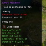 Wartune Rare Eletos Medallion