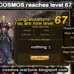 Cosmos Becomes Level 67