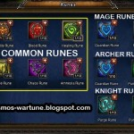 Rune Differences between Mages, Knights and Archers