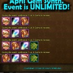 April Gem Synthesis and Soul Crystal events SURPRISE