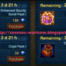 Bounty Scroll and Crypt Pack Promotions