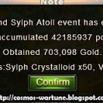 Rewards from Defend Sylph Atoll Event