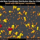 Erandel Boss Coordinates Distribution Map by COSMOS – 284 Bosses