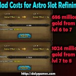 Astro Slot Refining Level 6 to 8 Costs