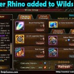 Nether Rhino added to Wilds Shop