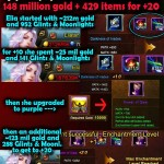 148 million gold + 429 items for one +20