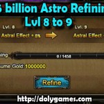 Astro Slot Refining Level 8 to 9 Costs