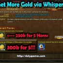 Get 20% More Gold via Whisper of Blessing