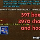 Mount Hoof Event Rewards