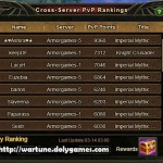 35k BR Grabs #2 Position in Cross Server PvP Rankings