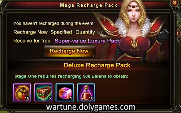 500 balen recharge pack Wartune