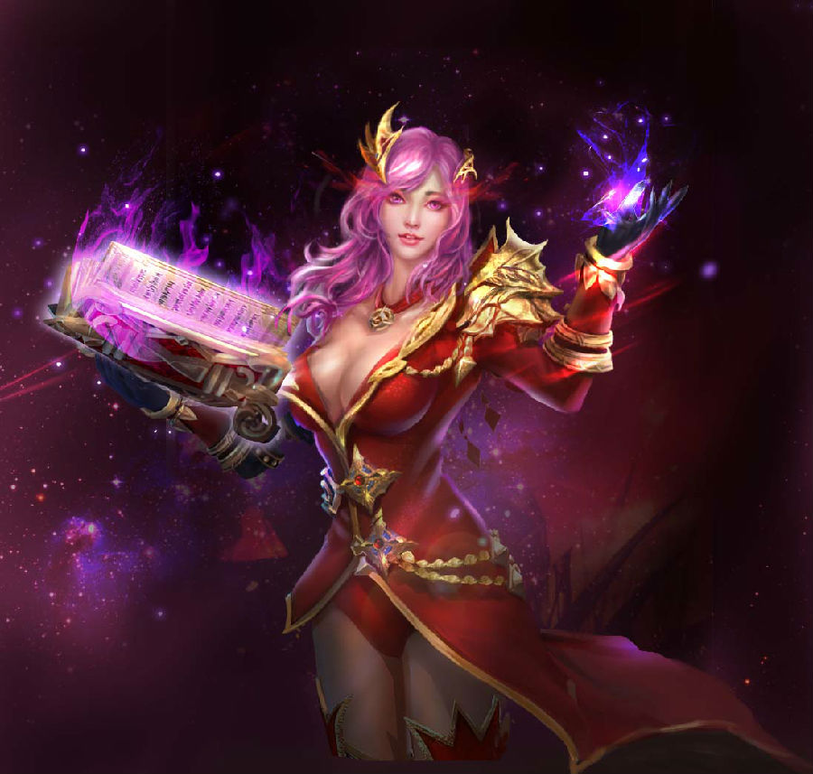 Female Mage Eudeamon Wartune Wallpaper