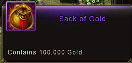 Sack of Gold - 100,000 gold
