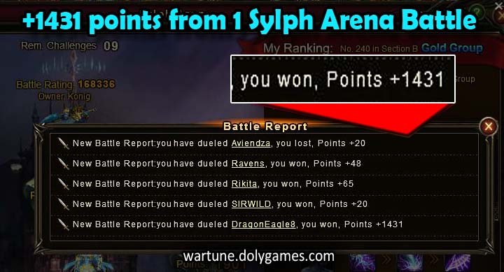 1431 points for Sylph Arena tip (from Bat)