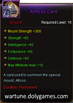 Arthros Card mount description