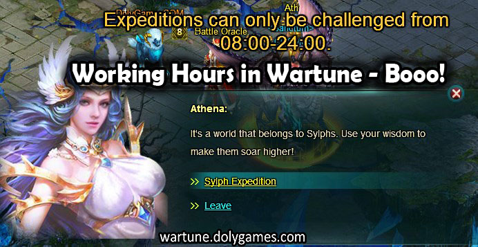 Expedition closed - working hours wartune