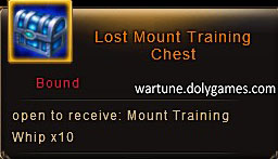 Jewel Hunt Lost Mount Training Chest
