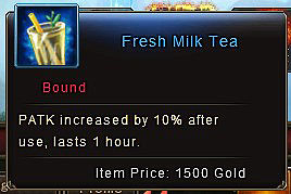Power Potion vs Fresh Milk Tea - fresh milk tea item