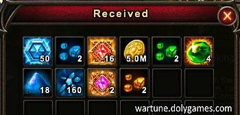 Purgatory Rewards up to level 23 with Keys