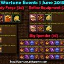 Wartune Events 1 June 2015