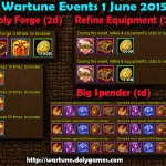 Wartune Events 1 June 2015