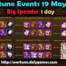 Wartune Events 19 May 2015