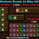 Wartune Events 24 May 2015