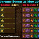 Wartune Events 25 May 2015