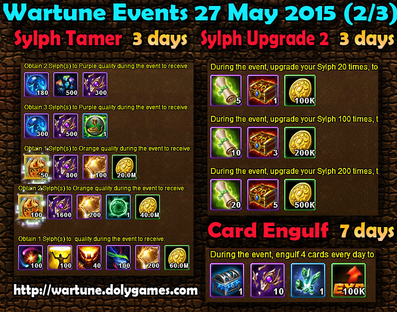 Wartune Events 27 May 2015 - 2