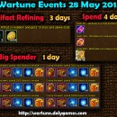 Wartune Events 28 May 2015