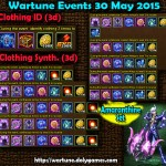 Wartune Events 30 May 2015