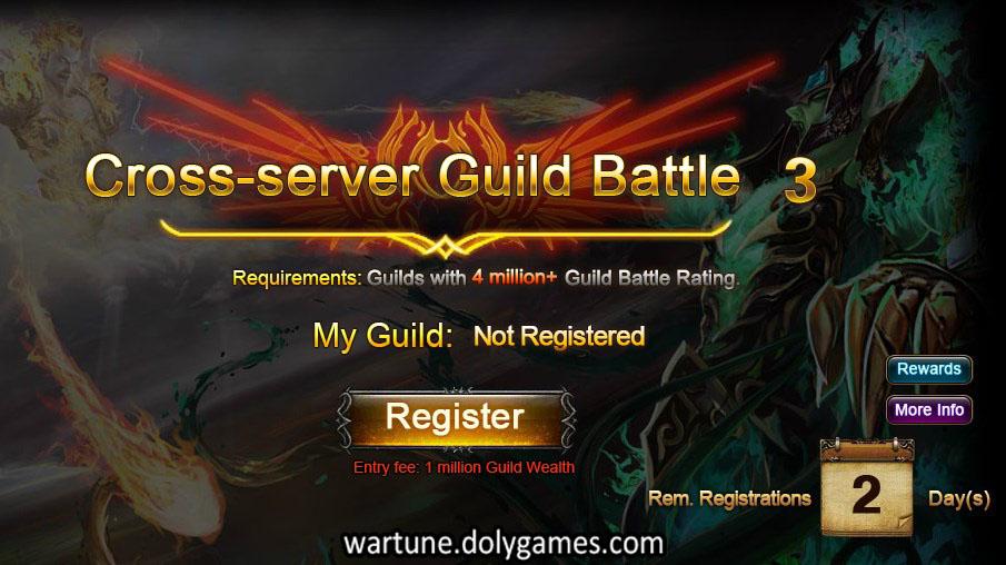Cross Server Guild Battle 3 registrations open