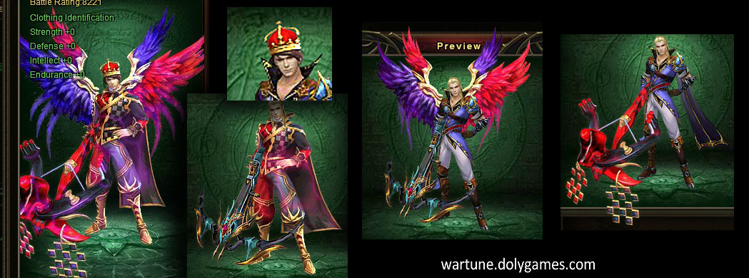 Royal Joker clothing and wings set