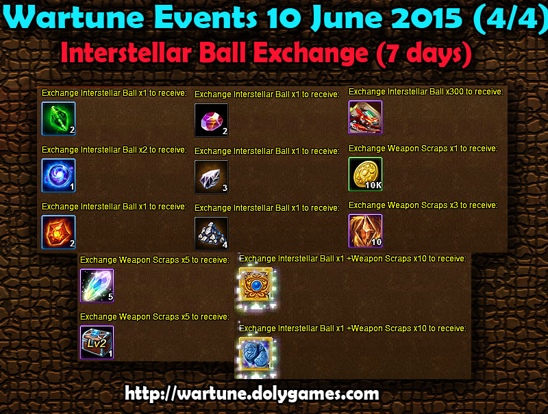 Wartune Events 10 June 2015 - EXCHANGE