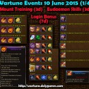 Wartune Events 10 June 2015 – 4 Parts