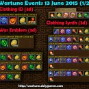 Wartune Events 13 June 2015