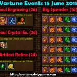 Wartune Events 15 June 2015
