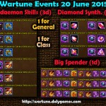 Wartune Events 20 June 2015
