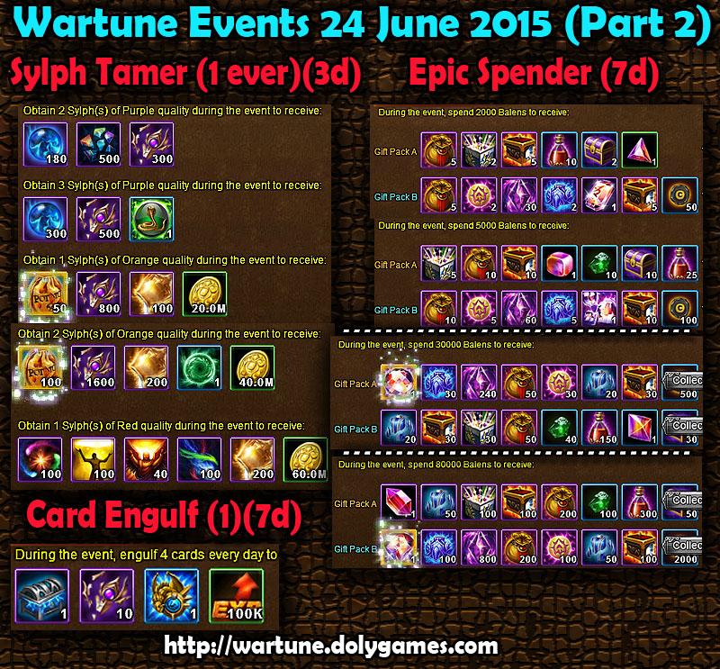 Wartune Events 24 June 2015 - Part 2