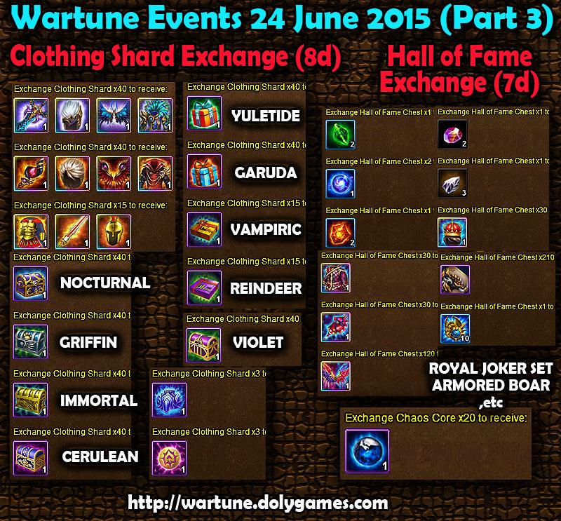 Wartune Events 24 June 2015 - Part 3