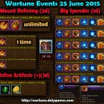 Wartune Events 25 June 2015