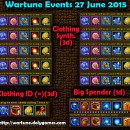 Wartune Events 27 June 2015