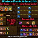 Wartune Events 28 June 2015