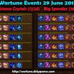 Wartune Events 29 June 2015