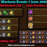 Wartune Events 7 June 2015