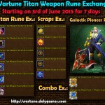Wartune Titan Weapon Rune Exchange