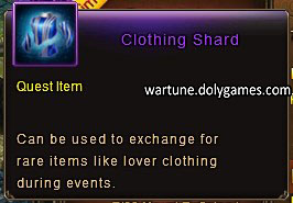 Clothing Shard item description