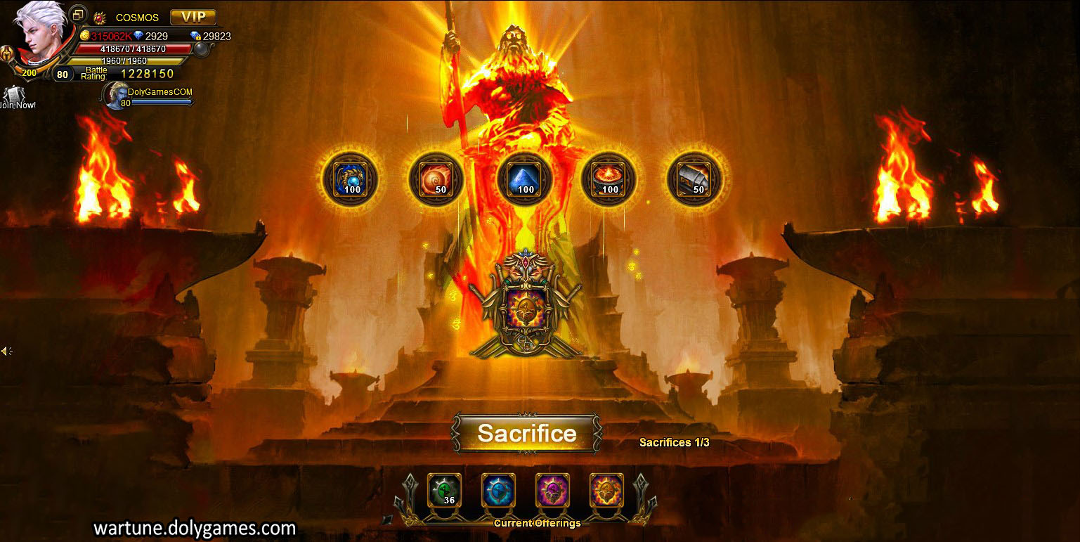 Sacrifice Ancient Offering Rewards after Patch 4,5 - Version 1