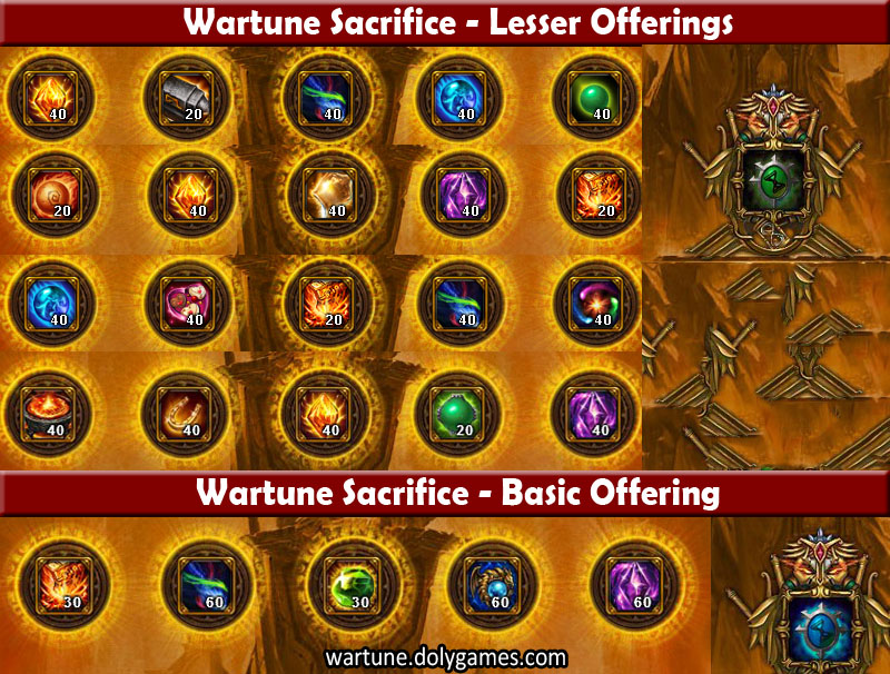 Sacrifice Offering Rewards after Patch 4,5 - Version 1