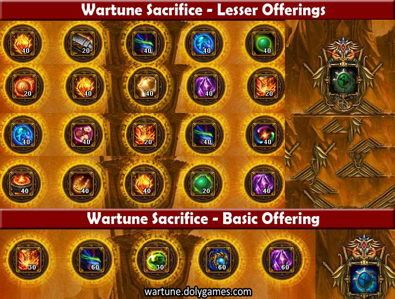 Sacrifice Offering Rewards after Patch 4,5 - Version 1